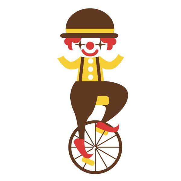 一輪車で曲芸をする