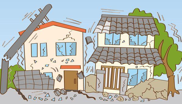 地震で街が壊滅する