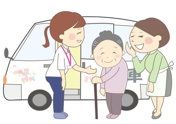 おばあちゃんの介護をする