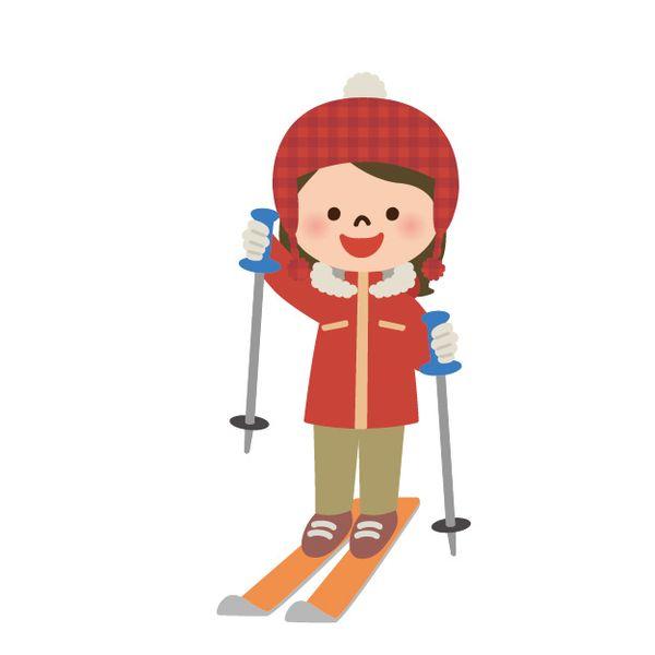 スキーやスケートで滑る