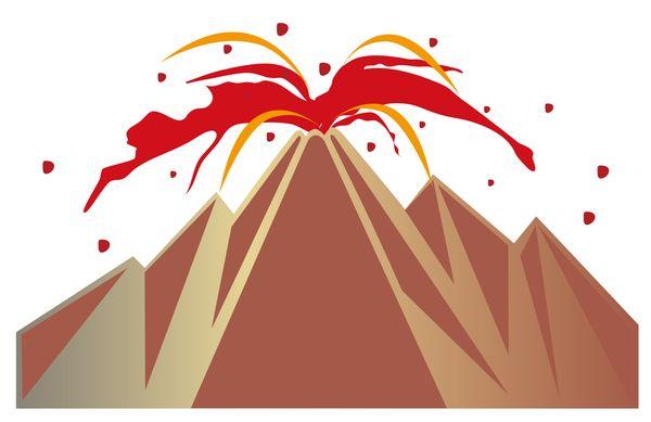 マグマ、溶岩が飛んでくる