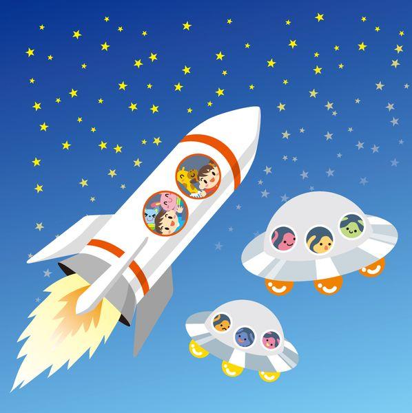 ロケットに乗って宇宙に行く