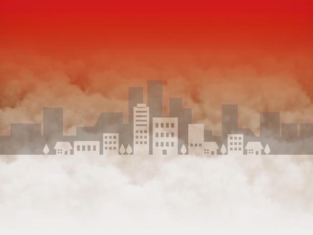 住宅街が火事