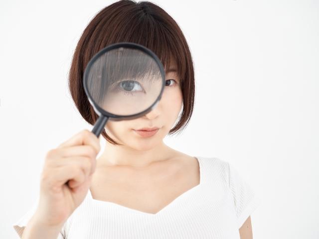 虫眼鏡で見る