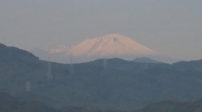 浅間山 初冠雪