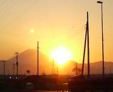 富士山&夕焼け