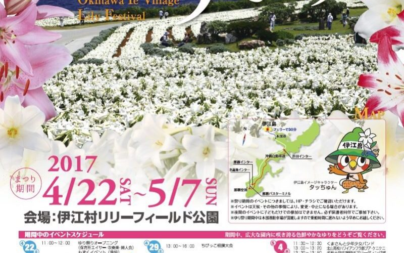 伊江島ゆり祭り2017の開花状況は?ツアー情報もチェック