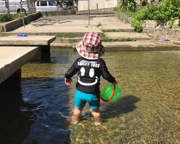 夏の子供にオススメ!!無料水遊び場「かでしがわ」嘉手志川(沖縄県糸満市)