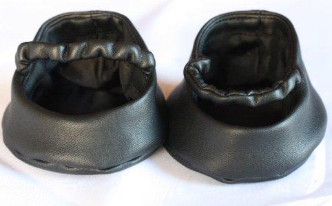 コロンと丸い靴【黒】
