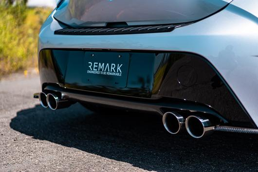 remark catback exhaust for toyota corolla hatchback 2019 quad exit