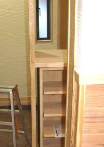 大工さんの作ってくれた巻藁台