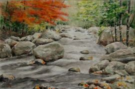 Mountain stream and Maple Trees (22x15) sold