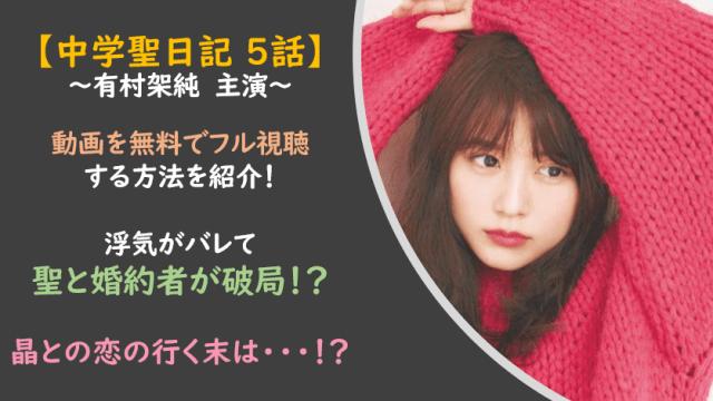 中学聖日記│主演有村架純動画を無料フル視聴!キス&鉢合わせで婚約解消!?