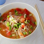 Steak and tomatoes noodle soup recipe