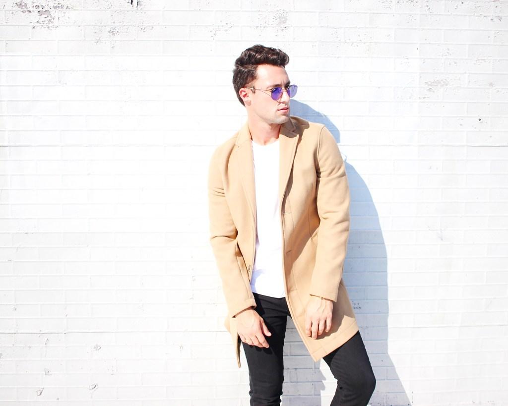 Yummertime men's coats for fall, camel