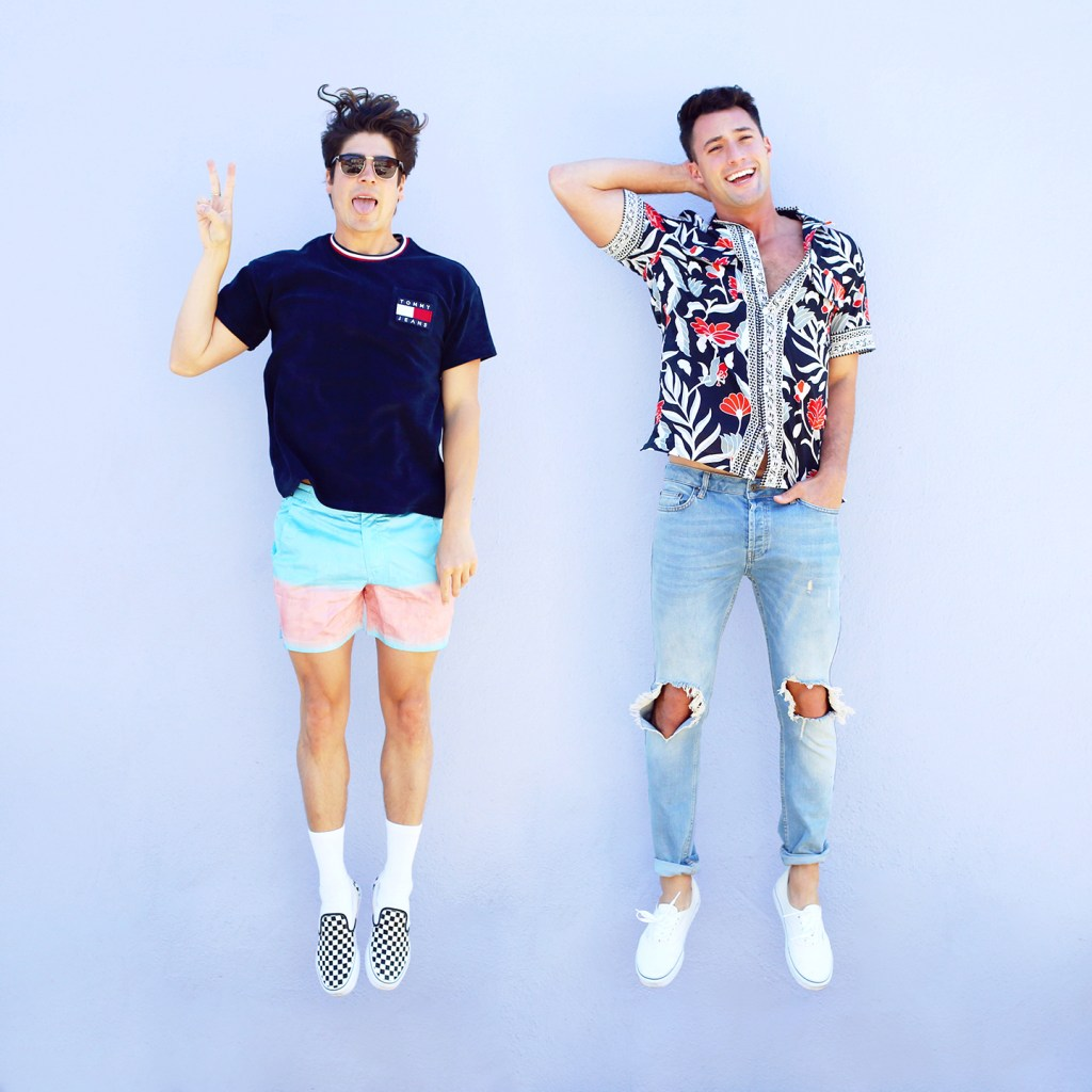 Shop Yummertimes Instagram Spring Essentials including floral shirts from Topman and swim shorts from PANGEA