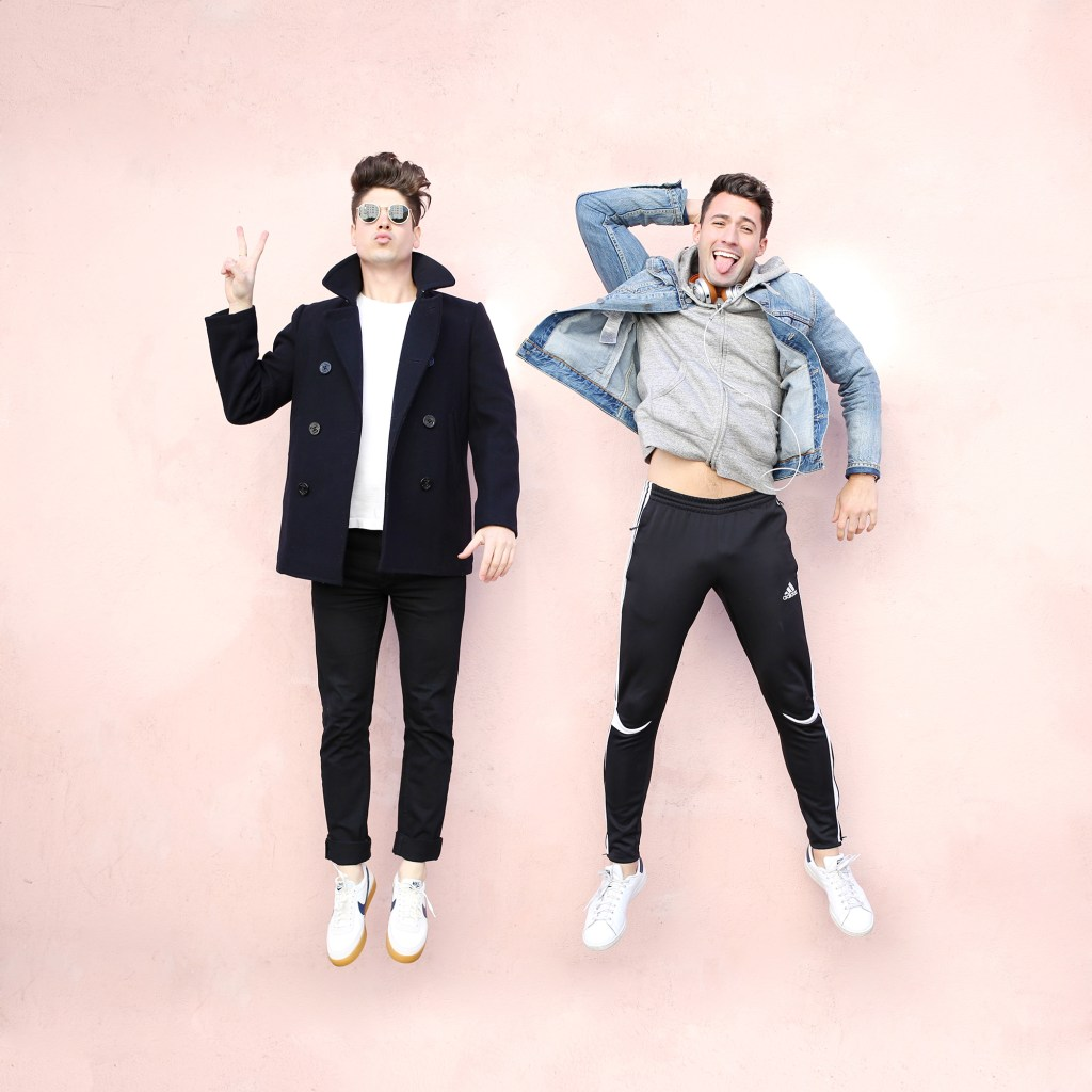 Brock and Chris of Yummertime wearing coats and jackets for Winter