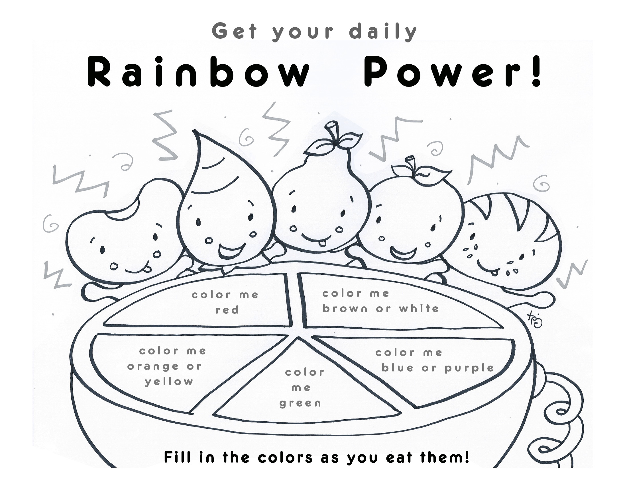 Eat A Rainbow Coloring Sheet Coloring Pages