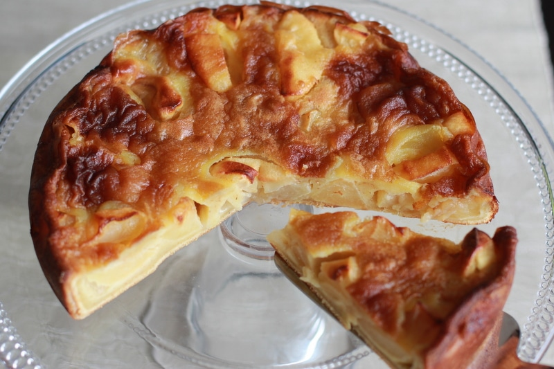 gateau aux pommes et au beurre sale