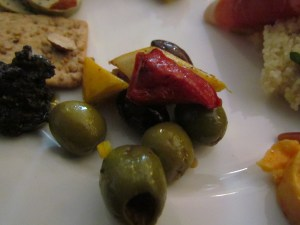 Herb marinated Olives with exotic vegetables