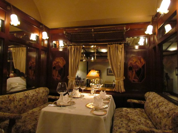 Inside the Train coach - Notice the goods carrying bunk on the top