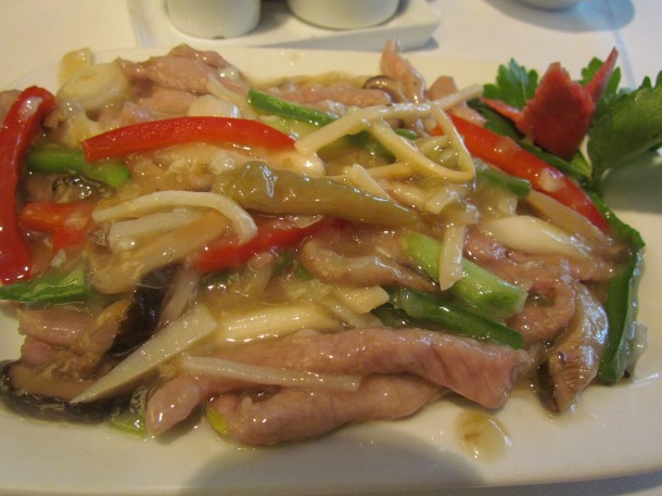Sauteed shredded lamb with yeshan chilli