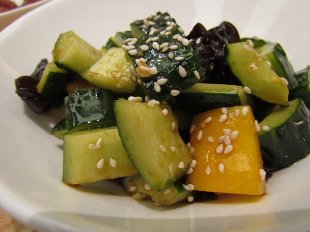 Sauteed Zucchini & Bell pepper with sesame