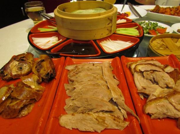 the slices of Peking Duck