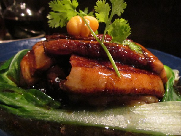 Chinese style Pork Belly with mushrooms & waterchestnut