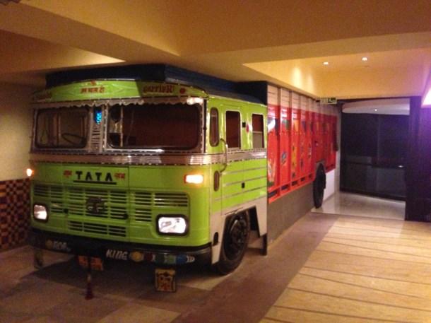 A full truck inside the restaurant