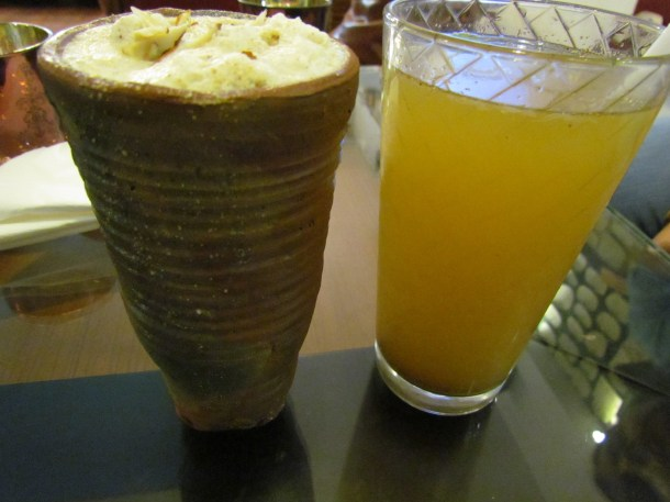 thandai in a kulhar & Meerut ki shikanji in a glass