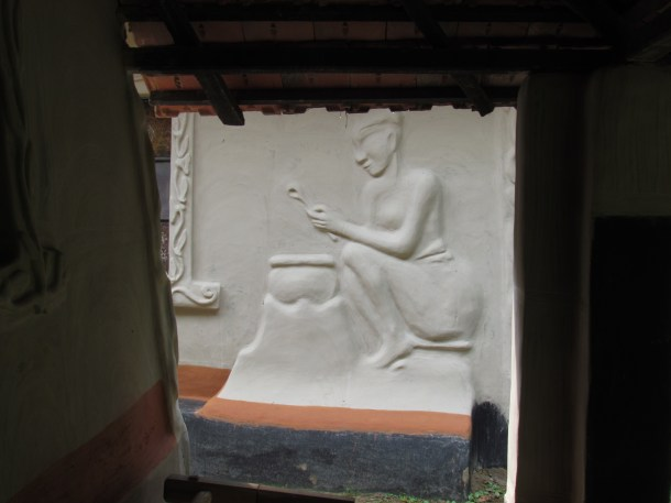 fresco on the mud-house wall