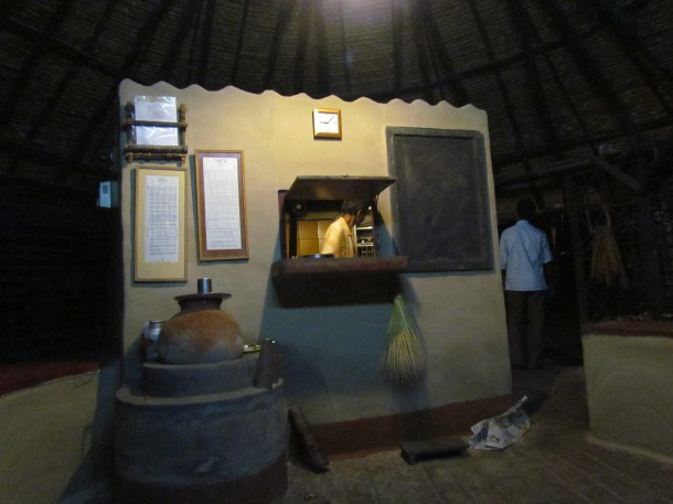 the kitchen area & its counter from which we cud see Shohodeb da
