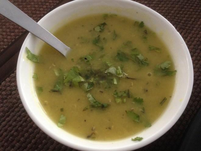 masoor dal with herbs