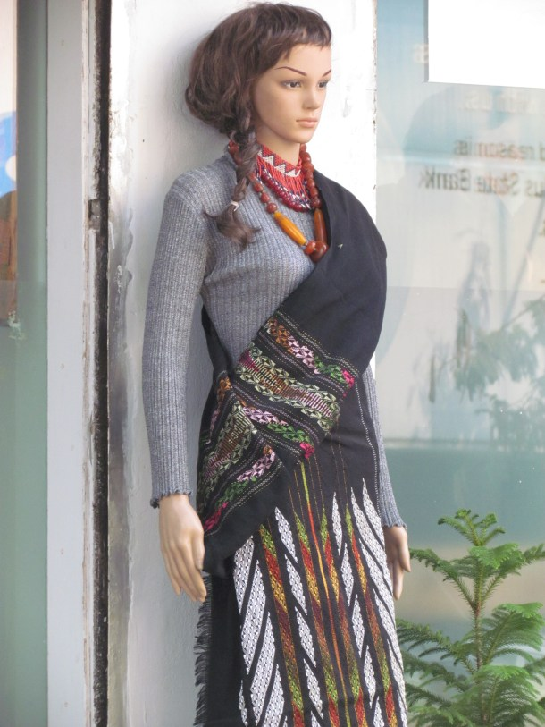 mannequin wearing North east traditional Dress
