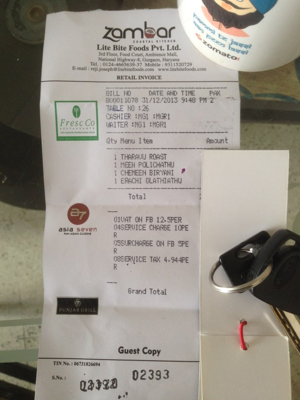 Our receipt - Proof of payment