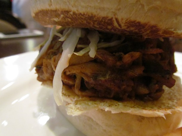 Hickory smoked Pulled pork sandwich