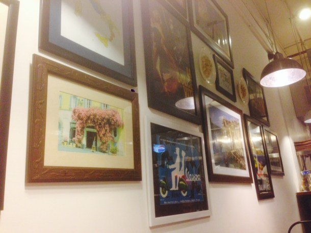 framed pictures on the wall