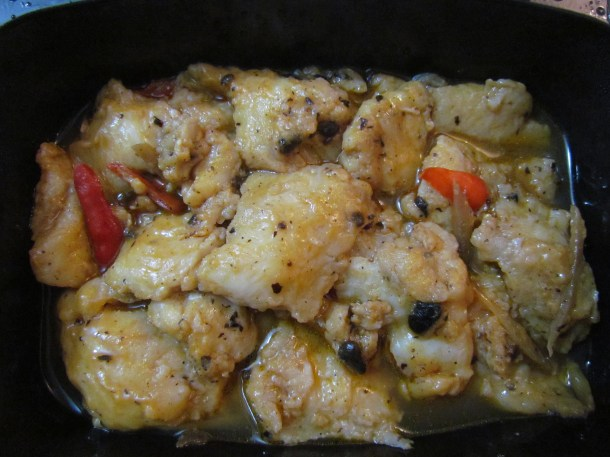 Steamed fish in black bean sauce