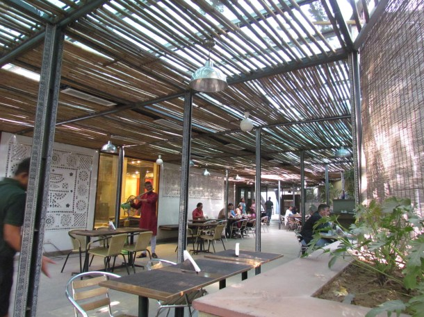 the dining hall of cafe lota