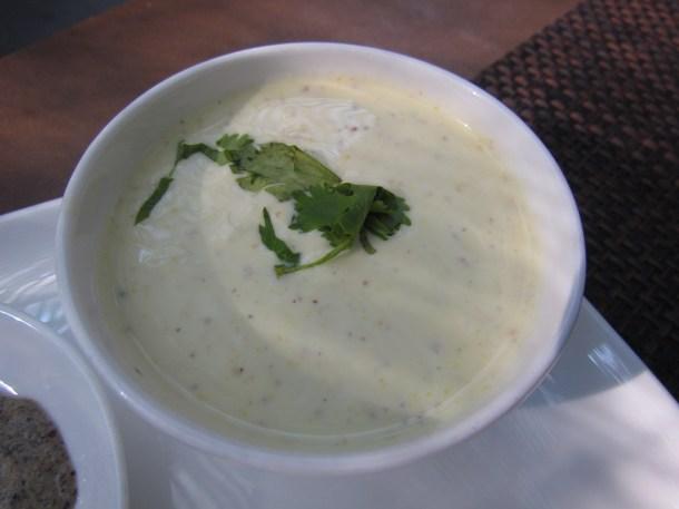 Cucumber mustard raita
