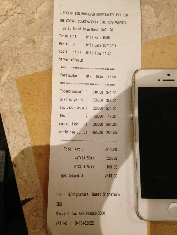 receipt - proof of payment