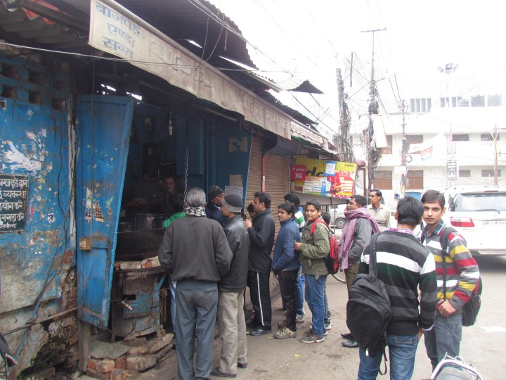 Queue outside shop