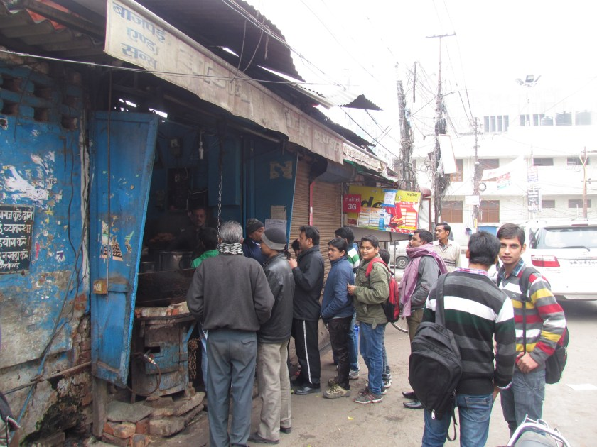 Queue outside shop