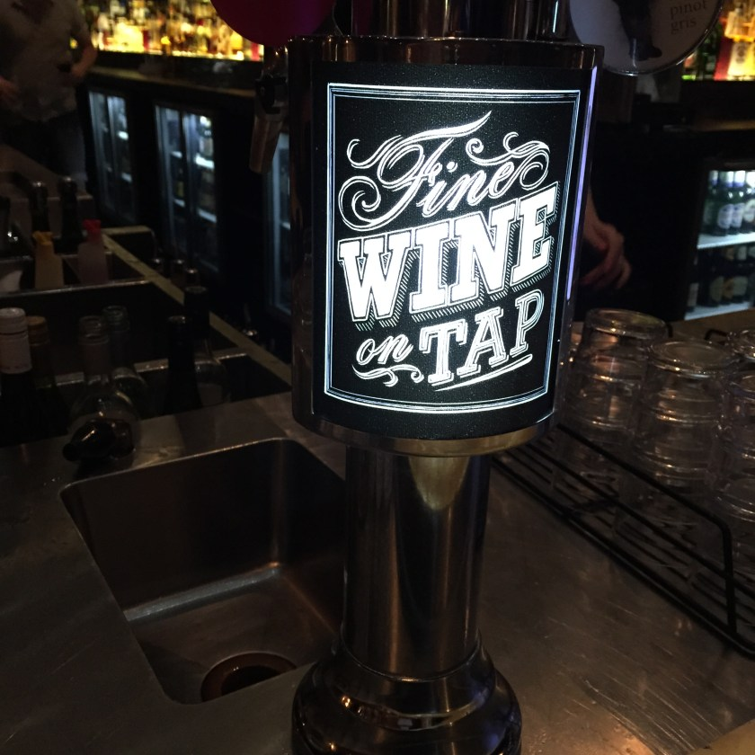 wine from a tap