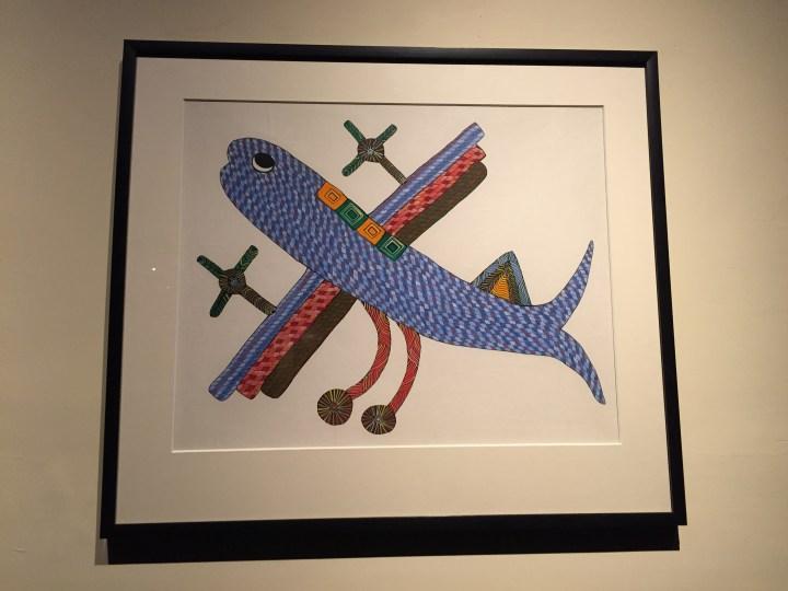 aeroplane - Gond tribal art