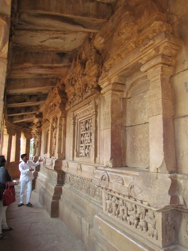 Parikrama (walking around the Garbha Griha) in Durga temple
