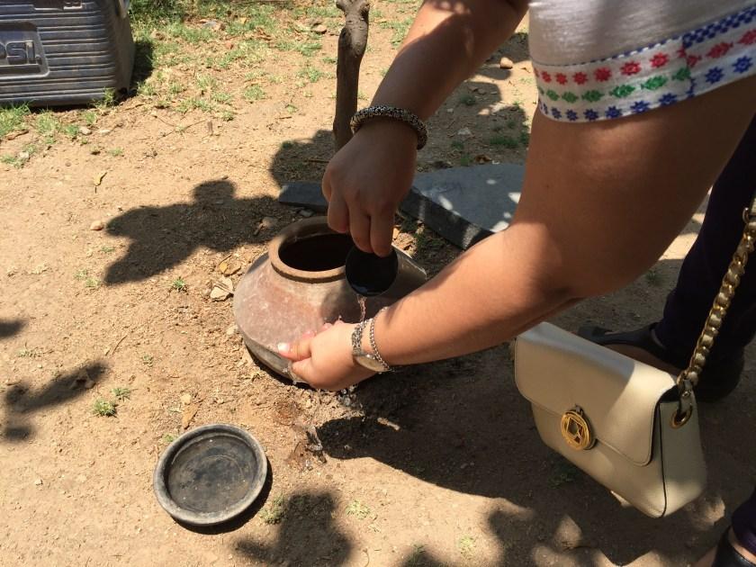 earthen pots  for washing hand