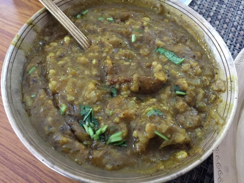 Duck curry with matimah dal