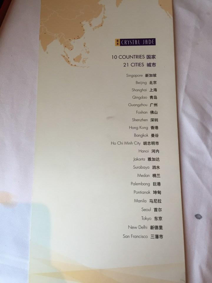 chain of restaurants
